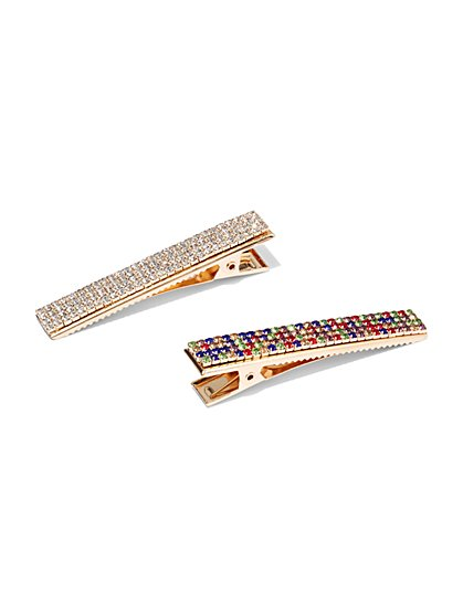 2-Piece Sparkling Barrette Set - New York & Company