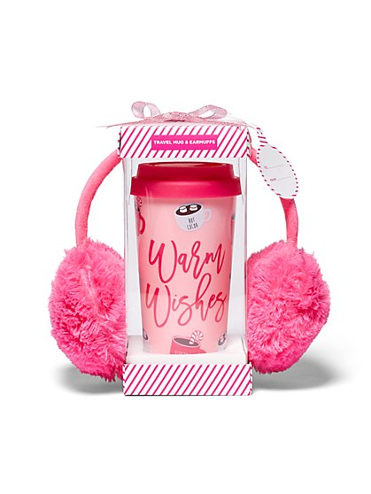 "2-Piece ""Warm Wishes"" Mug & Earmuff Gift Set - New York & Company"