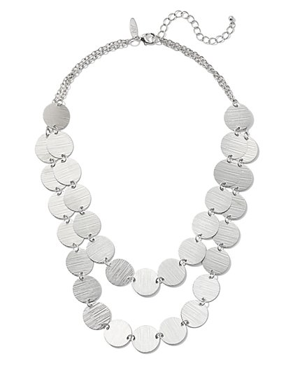 2-Row Disk Necklace - New York & Company