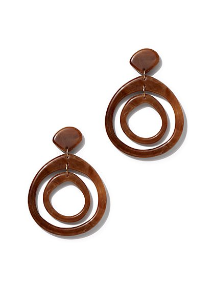 2-Row Hoop Drop Earring - New York & Company