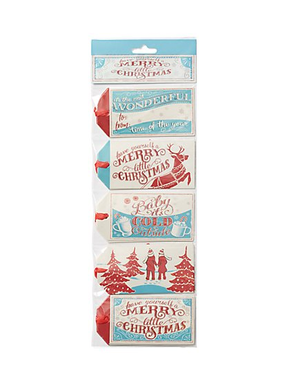 "20-Piece ""Merry Christmas"" Gift Tag Set - New York & Company"