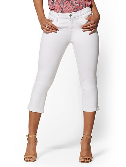 21 Inch Crop Legging - White - NY&C Runway - New York & Company