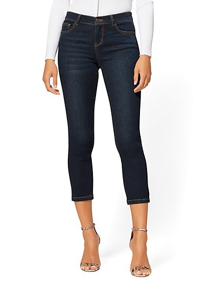 "25"" Crop Dark Blue Legging - NY&C Runway - Ultimate Stretch - Soho Jeans - New York & Company"