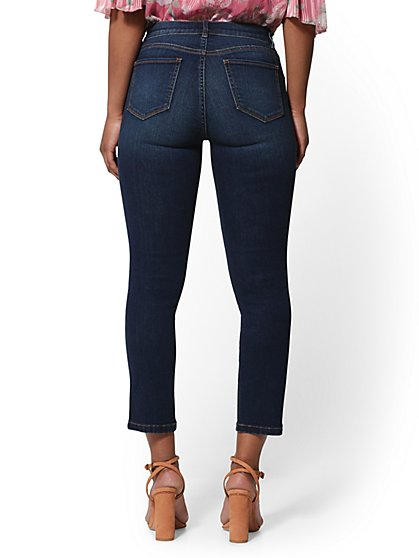 35002986ef ... 25 Inch Crop Legging - Foxy Blue - Ultimate Stretch - Soho Jeans - New  York