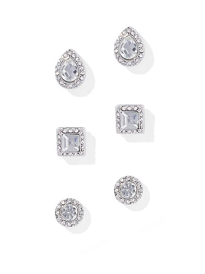 3-Piece Dazzling Post Earring Set - New York & Company
