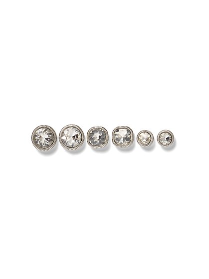 3-Piece Faceted CZ Post Earring Set - New York & Company