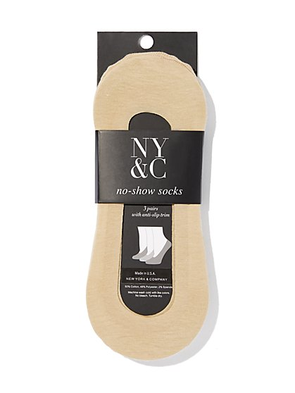 3-Piece No-Show Socks Set - New York & Company