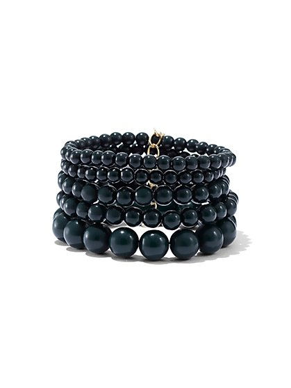 5-Piece Beaded Stretch Bracelet Set - New York & Company