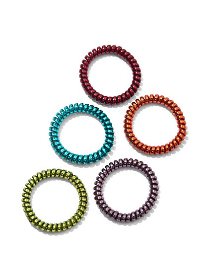 5-Piece Ponytail Holder Set - New York & Company