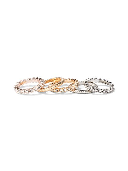 5-Piece Sparkling Ring Set - New York & Company