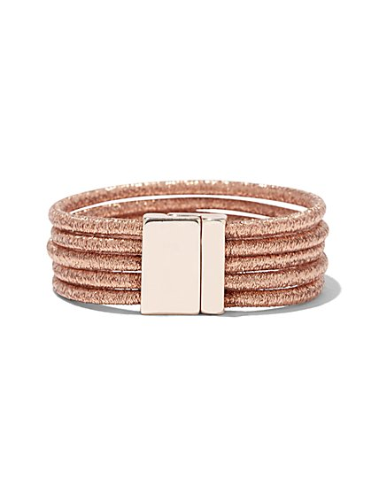 5-Row Metallic Wrap Bracelet - New York & Company