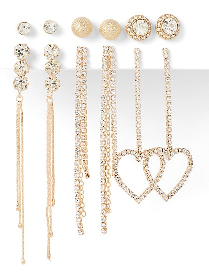 6-Piece Post & Drop Earring Set - New York & Company