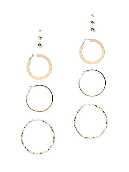 6-Piece Post & Hoop Earring Set - New York & Company