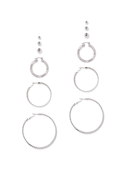 6-Piece Post and Hoop Earring Set - New York & Company