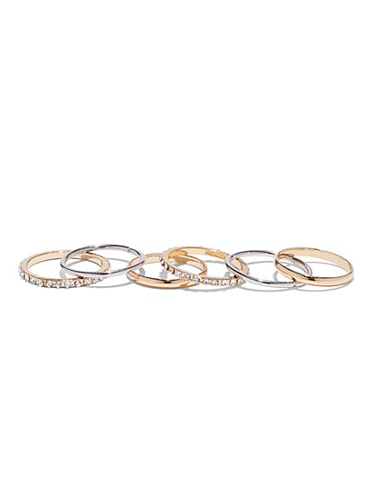 6-Piece Ring Set - New York & Company