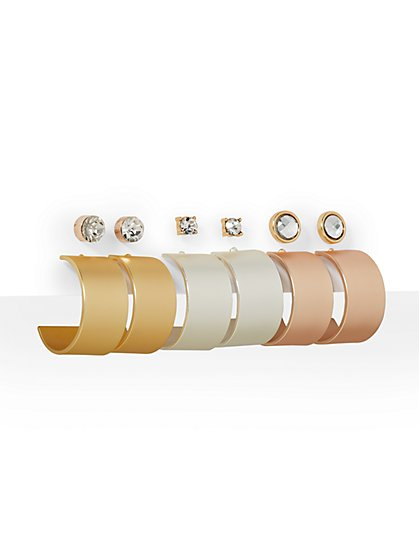 6-Piece Stud & Hoop Earring Set - New York & Company