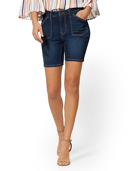 7 Inch High-Waisted Short - Dark Wash - New York & Company