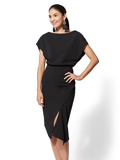 7th Avenue - Asymmetrical-Hem Sheath Dress - New York & Company