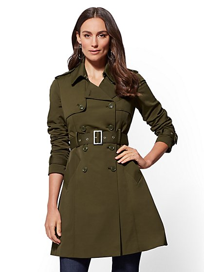 7th Avenue - Belted Trench Coat - New York & Company