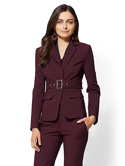 7th Avenue - Belted Two-Button Jacket - All-Season Stretch - New York & Company