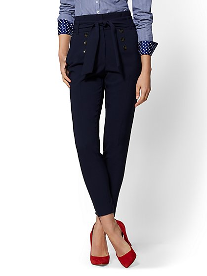 7th Avenue – Button-Front Slim Pant - New York & Company