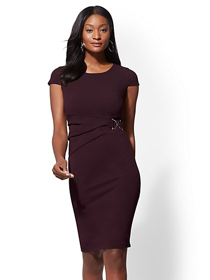 7th Avenue - Cap-Sleeve Sheath Dress - New York & Company