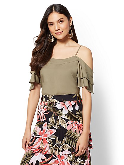 7th Avenue - Cold-Shoulder Blouse - New York & Company
