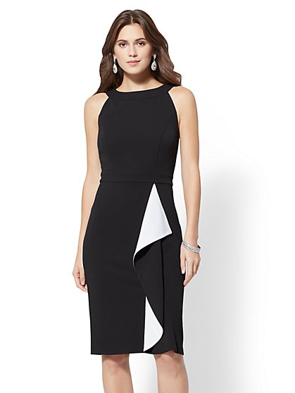7th Avenue - Draped Halter Sheath Dress - New York & Company
