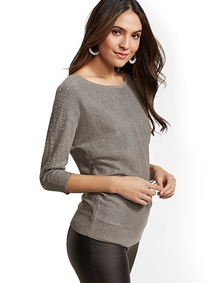 7th Avenue - Embellished Dolman Sweater - New York & Company