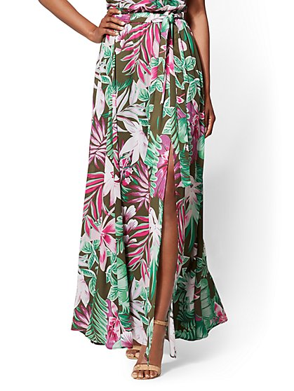 7th Avenue - Floral Overlay Maxi Skirt - New York & Company