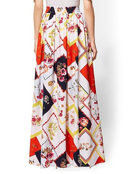 da449e0c6f ... 7th Avenue - Floral Pull-On Maxi Skirt - New York & Company