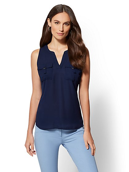 7th Avenue - Hardware-Accent Sleeveless Top - New York & Company