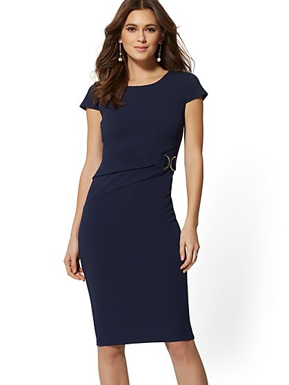 7th Avenue - Hardware Sheath Dress - Magic Crepe - New York & Company