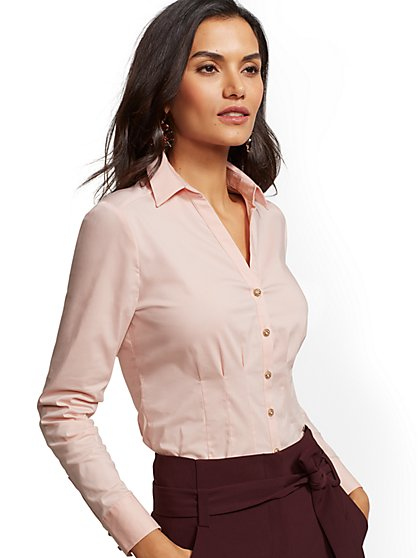7th Avenue - Jeweled Madison Stretch Shirt - New York & Company