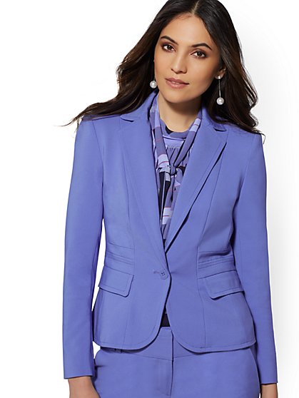 7th Avenue - One-Button Jacket - Modern - All-Season Stretch - New York & Company