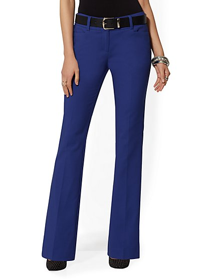7th Avenue Pant - Blue Bootcut - Modern - All-Season Stretch - New York & Company