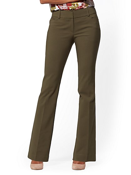 7th Avenue Pant - Bootcut Straight Leg - Modern - All-Season Stretch - New York & Company