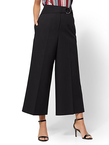7th Avenue Pant - Crop Wide Leg - Signature - New York & Company