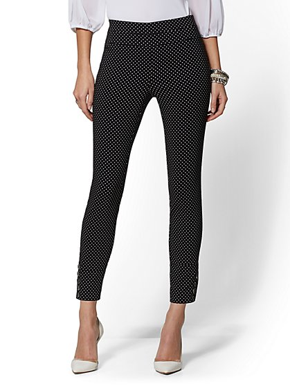 7th Avenue Pant - Dot Print High-Waist Pull-On Ankle - New York & Company