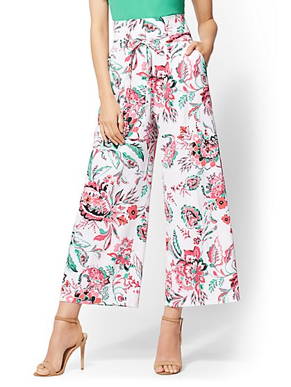 7th Avenue Pant - Floral Wide-Leg - Signature - New York & Company