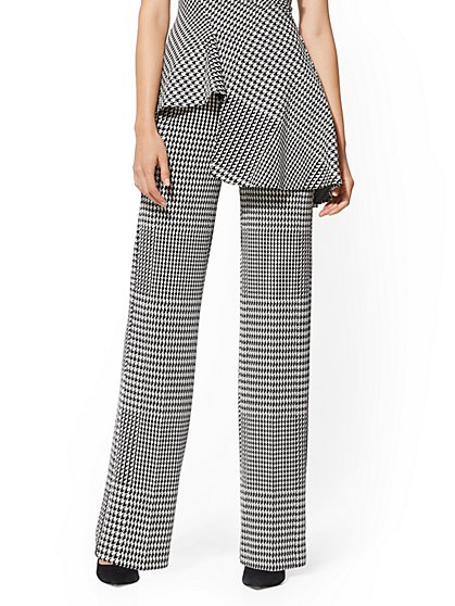 7th Avenue Pant - Houndstooth Wide-Leg Ponte - New York & Company