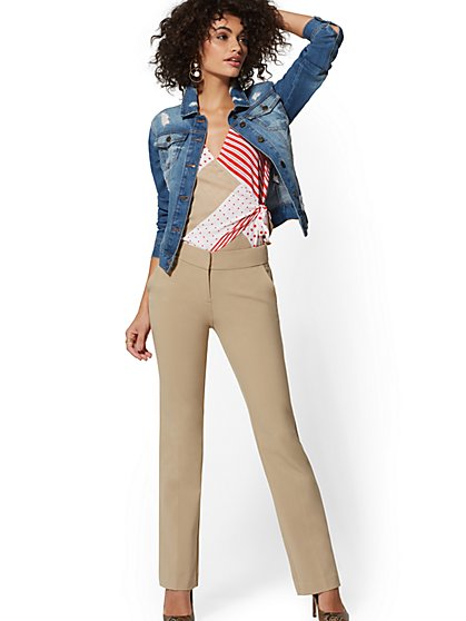 7th Avenue Pant - Mid Rise - Petite Straight Leg - Signature - Double Stretch - New York & Company