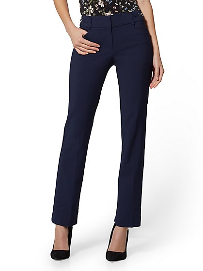 7th Avenue Pant - Mid Rise - Straight-Leg - All-Season Stretch - New York & Company
