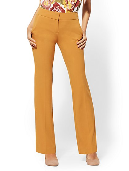 7th Avenue Pant - Mid Rise - Straight Leg - Double Stretch - New York & Company