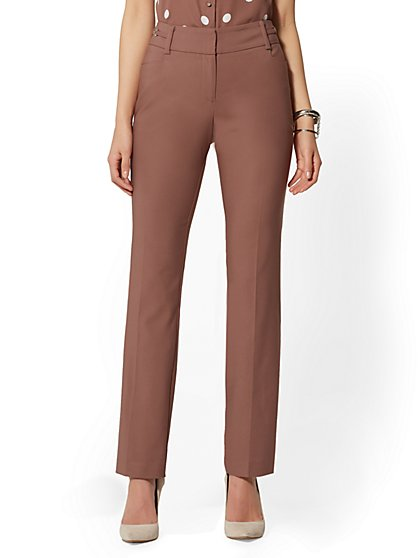 7th Avenue Pant - Mid Rise - Tall Straight-Leg - Modern - All-Season Stretch - New York & Company