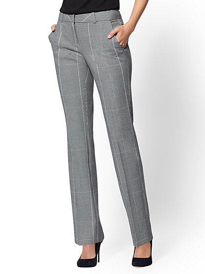 7th Avenue Pant - Mid Rise - Tall Straight-Leg - Signature - New York & Company
