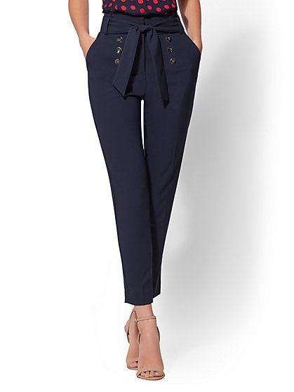 7th Avenue Pant - Navy Slim Ankle - New York & Company