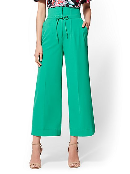 7th Avenue Pant - Paperbag-Waist Culotte - New York & Company
