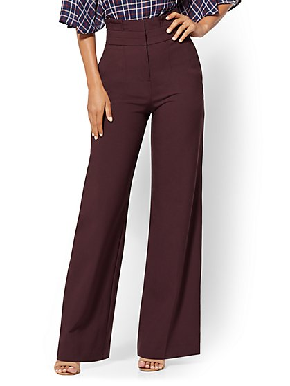 7th Avenue Pant - Paperbag-Waist Palazzo - New York & Company