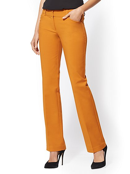 7th Avenue Pant - Petite Barely Bootcut - Modern - All-Season Stretch - New York & Company